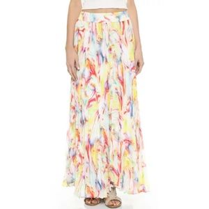 🎀SOLD🎀Alice + Olivia Wave Floral Maxi Skirt